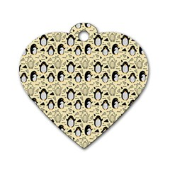 Cute Penguin Love Dog Tag Heart (two Sides)