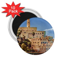 Old Jaffa Cityscape, Israel 2 25  Magnets (10 Pack)