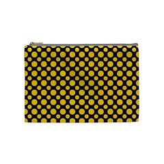Dot Dots Dotted Yellow Cosmetic Bag (medium)