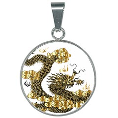 Dragon Animals Monster 25mm Round Necklace