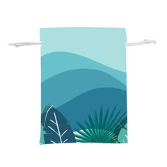 Illustration Of Palm Leaves Waves Mountain Hills Lightweight Drawstring Pouch (s)