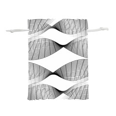 Something Twisted Black And White Lines Pattern Lightweight Drawstring Pouch (m) by CrypticFragmentsColors