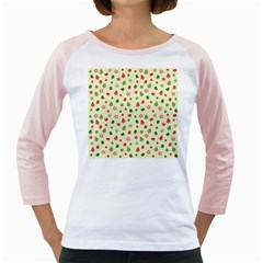 Cute Christmas Pattern Girly Raglan