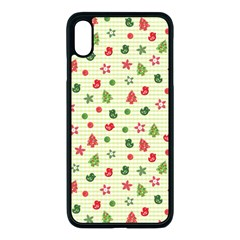 Cute Christmas Pattern Iphone Xs Max Seamless Case (black)