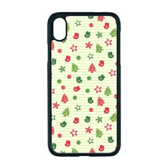 Cute Christmas Pattern Iphone Xr Seamless Case (black)