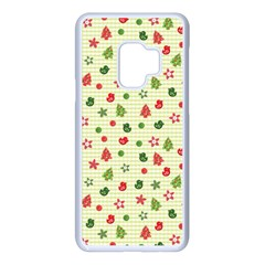 Cute Christmas Pattern Samsung Galaxy S9 Seamless Case(white)