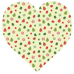 Cute Christmas Pattern Wooden Puzzle Heart