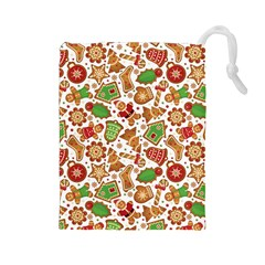 Christmas Love 6 Drawstring Pouch (large)