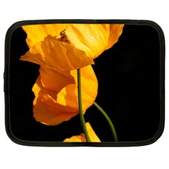 Yellow Poppies Netbook Case (large) by Audy