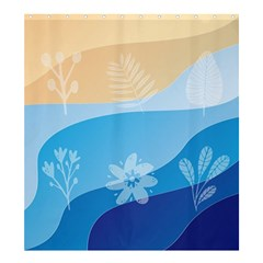 Flower Branch Corolla Wreath Lease Shower Curtain 66  X 72  (large)