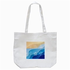 Flower Branch Corolla Wreath Lease Tote Bag (white)