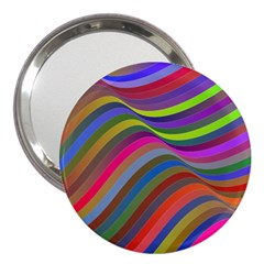 Psychedelic Surreal Background 3  Handbag Mirrors by AnjaniArt