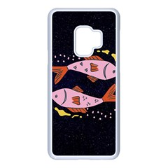 Fish Pisces Astrology Star Zodiac Samsung Galaxy S9 Seamless Case(white)