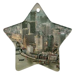 Lujiazui District Aerial View, Shanghai China Ornament (star)