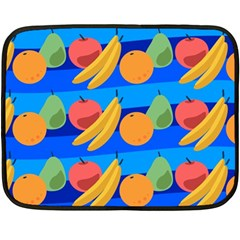 Fruit Texture Wave Fruits Double Sided Fleece Blanket (mini)  by AnjaniArt