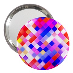 Squares Pattern Geometric Seamless 3  Handbag Mirrors by Dutashop