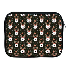 Bear Rein Deer Christmas Apple Ipad 2/3/4 Zipper Cases by designsbymallika