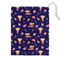 Cat Astro Love Drawstring Pouch (2xl)