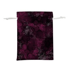 Purple Alcohol Ink Lightweight Drawstring Pouch (s)