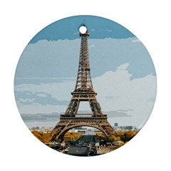 The Eiffel Tower  Ornament (round) by ArtsyWishy