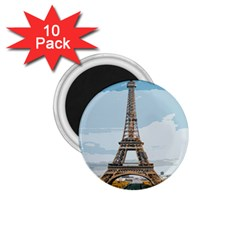 The Eiffel Tower  1 75  Magnets (10 Pack)  by ArtsyWishy