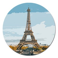 The Eiffel Tower  Magnet 5  (round) by ArtsyWishy