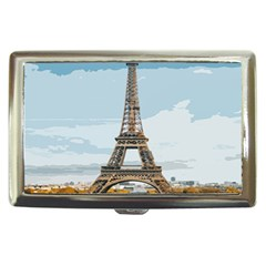 The Eiffel Tower  Cigarette Money Case by ArtsyWishy