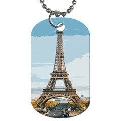 The Eiffel Tower  Dog Tag (two Sides) by ArtsyWishy