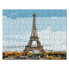 The Eiffel Tower  Rectangular Jigsaw Puzzl by ArtsyWishy