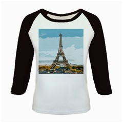 The Eiffel Tower  Kids Baseball Jerseys by ArtsyWishy