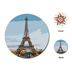 The Eiffel Tower  Playing Cards Single Design (round) by ArtsyWishy