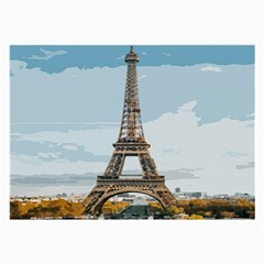 The Eiffel Tower  Large Glasses Cloth by ArtsyWishy