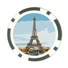 The Eiffel Tower  Poker Chip Card Guard by ArtsyWishy