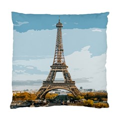 The Eiffel Tower  Standard Cushion Case (one Side) by ArtsyWishy