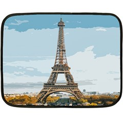 The Eiffel Tower  Double Sided Fleece Blanket (mini)  by ArtsyWishy