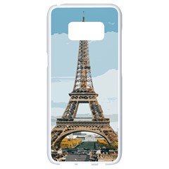 The Eiffel Tower  Samsung Galaxy S8 White Seamless Case by ArtsyWishy