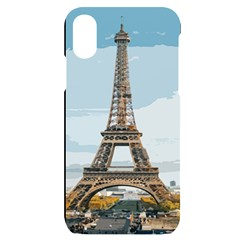 The Eiffel Tower  Iphone X/xs Black Uv Print Case by ArtsyWishy