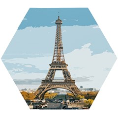 The Eiffel Tower  Wooden Puzzle Hexagon by ArtsyWishy