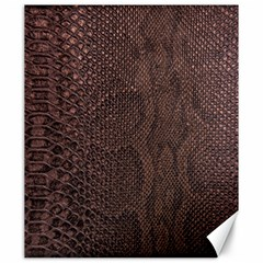 Leather Snakeskin Design Canvas 20  X 24  by ArtsyWishy