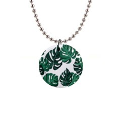 Illustrations Monstera Leafes 1  Button Necklace