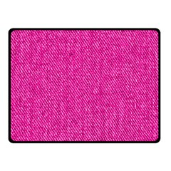 Pink Denim Design  Fleece Blanket (small) by ArtsyWishy