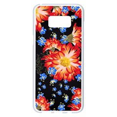 Orange And Blue Chamomiles Design Samsung Galaxy S8 Plus White Seamless Case