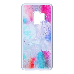 Rainbow Paint Samsung Galaxy S9 Seamless Case(white) by goljakoff