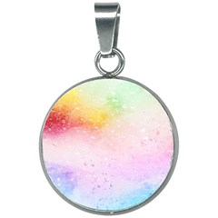 Rainbow Splashes 20mm Round Necklace by goljakoff
