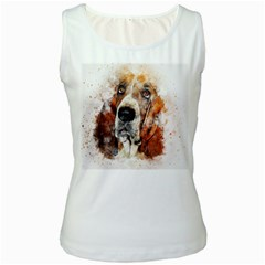Dog Women s White Tank Top by goljakoff