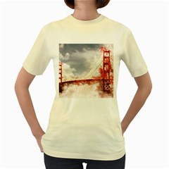 Golden Bridge Women s Yellow T-shirt by goljakoff
