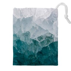 Blue Green Waves Drawstring Pouch (5xl)