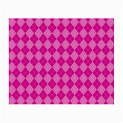 Pink Diamond Pattern Small Glasses Cloth (2 Sides) by ArtsyWishy