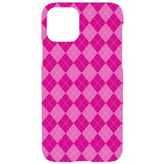 Pink Diamond Pattern Iphone 11 Pro Black Uv Print Case by ArtsyWishy