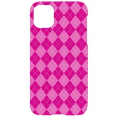 Pink Diamond Pattern Iphone 11 Black Uv Print Case by ArtsyWishy